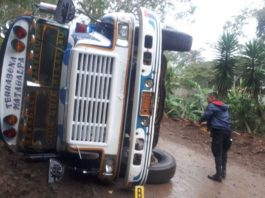 Bus accidente