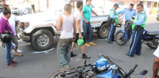 Lesionada en accidente
